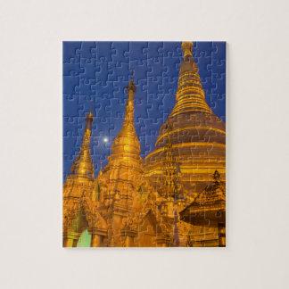 Shwedagon Pagoda at night, Myanmar Puzzles