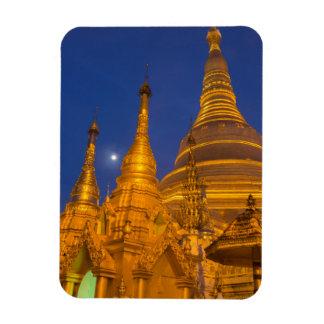 Shwedagon Pagoda at night, Myanmar Rectangular Photo Magnet