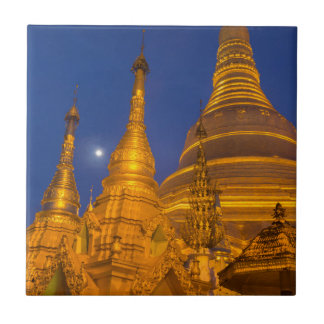Shwedagon Pagoda at night, Myanmar Tiles