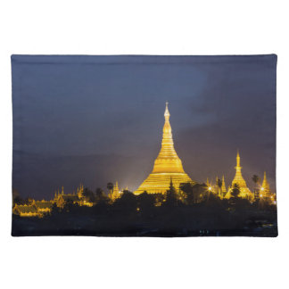 Shwedagon Pagoda At Night Placemat