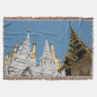Shwedagon Pagoda Exterior Throw Blanket