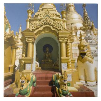 Shwedagon Pagoda (Paya), large temple site that 4 Ceramic Tiles