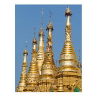 Shwedagon Pagoda Spires Postcard
