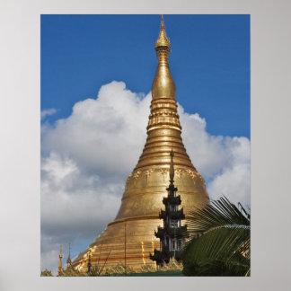 Shwedagon Pagoda, Yangon, Myanmar Poster