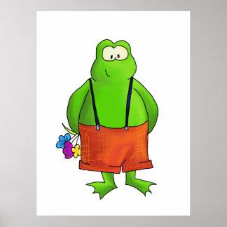 Shy Boy Frog Art Print