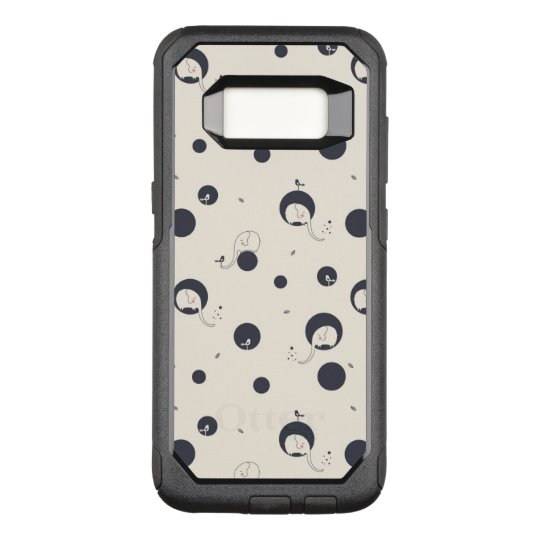 Shy Elephant Pattern OtterBox Commuter Samsung Galaxy S8 Case