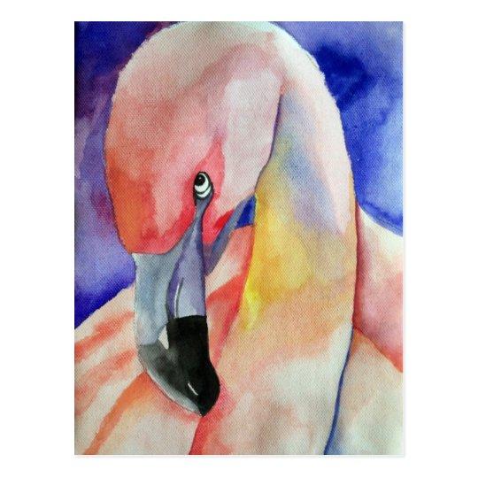 Shy Flamingo (Kimberly Turnbull Art) Postcard