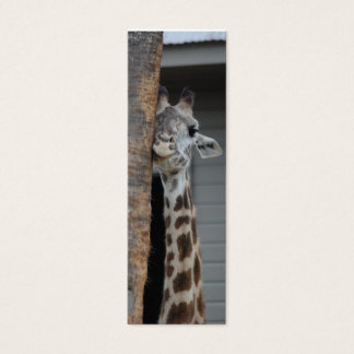 """Shy Giraffe"" Bookmark Mini Business Card"