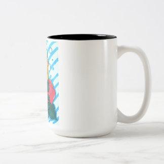 Shy mermaid Two-Tone coffee mug