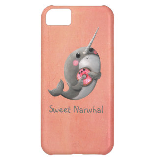 Shy Narwhal with Donut Cover For iPhone 5C
