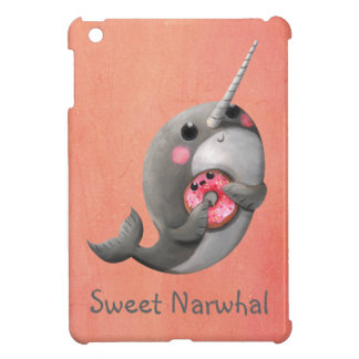 Shy Narwhal with Donut iPad Mini Cover