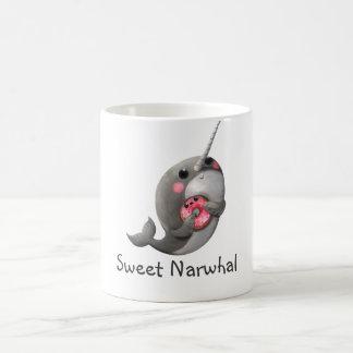 Shy Narwhal with Doughnut Coffee Mug
