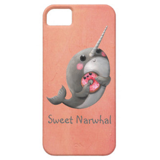 Shy Narwhal with Doughnut iPhone 5 Case
