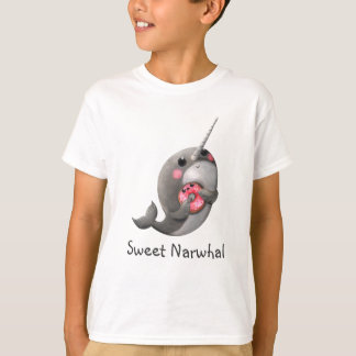 Shy Narwhal with Doughnut T-Shirt