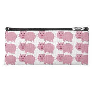 Shy Pink Pig Pencil Case