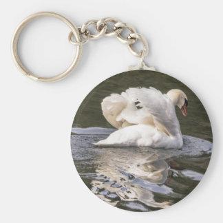 Shy Swan Keychain