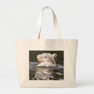 Shy Swan Large Tote Bag