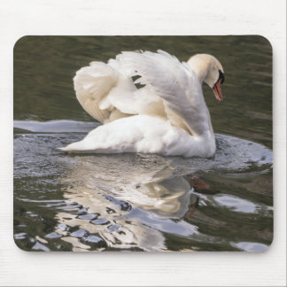 Shy Swan Mouse Pad
