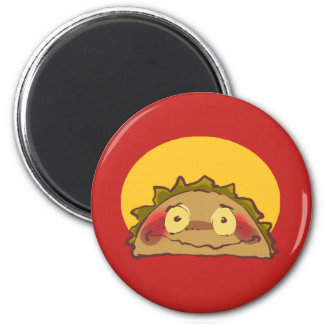 shy taco funny cartoon magnet