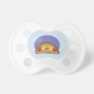 shy taco funny cartoon pacifier