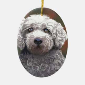 Shyanne Bichon Frise/ King Charles Cavalier Ceramic Oval Ornament