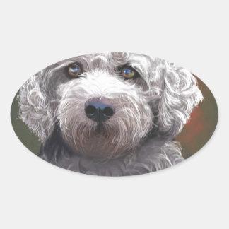 Shyanne Bichon Frise/ King Charles Cavalier Oval Sticker