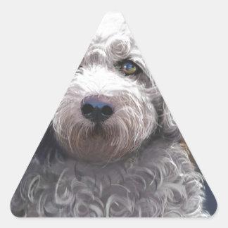 Shyanne Bichon Frise/ King Charles Cavalier Triangle Sticker