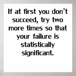 Si d'abord vous ne réussissez pas