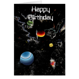 si fi jumping dimension card Happy Birthday