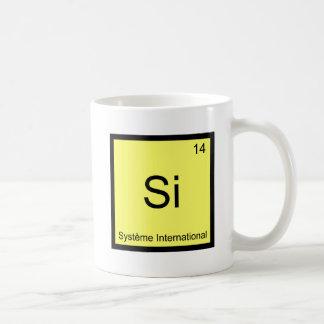 Si - Système International Funny Chemistry Symbol Basic White Mug