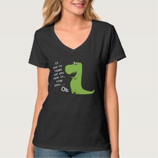 Si vous êtes heureux battez le T-shirt drôle de
