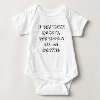 si vous pensez que je suis mignon, vous devrais tee-shirt