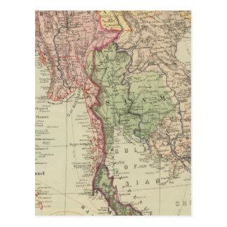 Siam, Burma and Anam Postcard