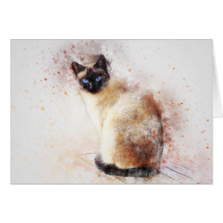 Siamese | Abstract | Watercolor Card