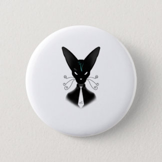 Siamese Black Cat Punk 2 Inch Round Button