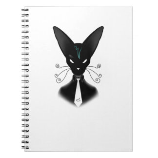 Siamese Black Cat Punk Notebook