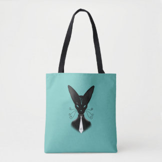 Siamese Black Cat Punk Tote Bag