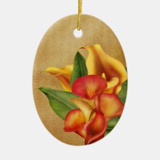 Siamese Callas Ceramic Ornament