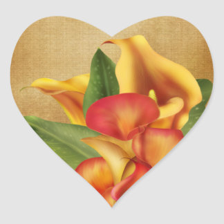 Siamese Callas Heart Sticker