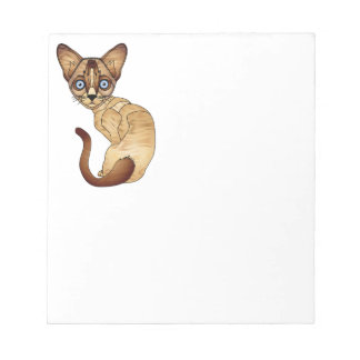 "Siamese Cat 5.5"" x 6"" Notepad - 40 pages"