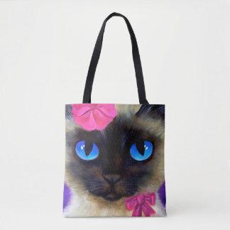 Siamese Cat All-Over Print Tote Bag