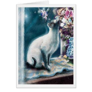 Siamese Cat and Faery Card
