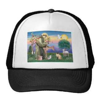 Siamese Cat and St Francis Trucker Hat