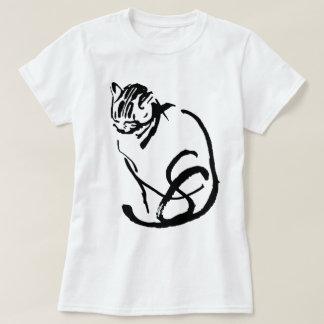 Siamese Cat Brush Drawing Design T-Shirt