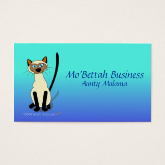 Siamese Cat Business Card Template