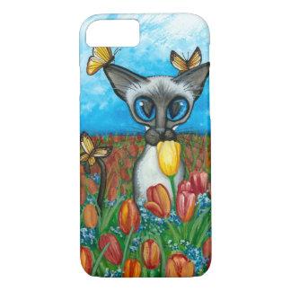 Siamese Cat Butterflies Flowers case by Bihrle