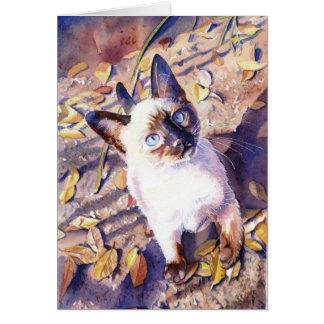 """""""Siamese Cat"""" Card"""