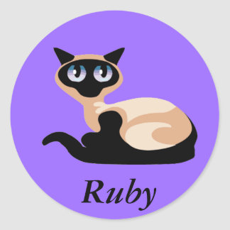 Siamese Cat Classic Round Sticker