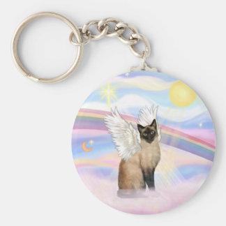 Siamese Cat - Clouds Keychain
