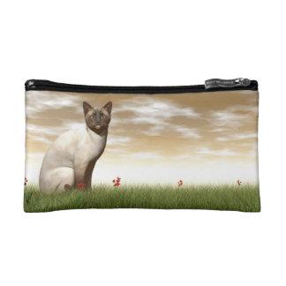 Siamese cat cosmetic bag